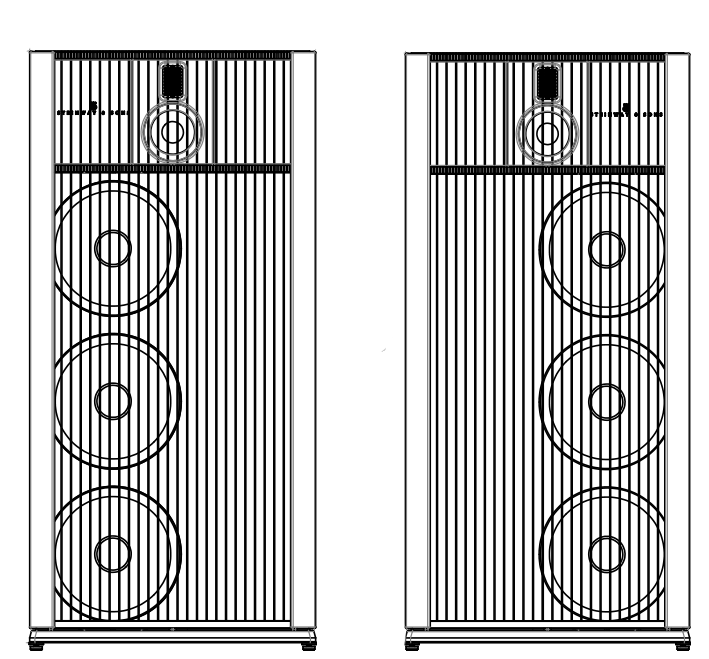 Technical drawing of Model B left and right