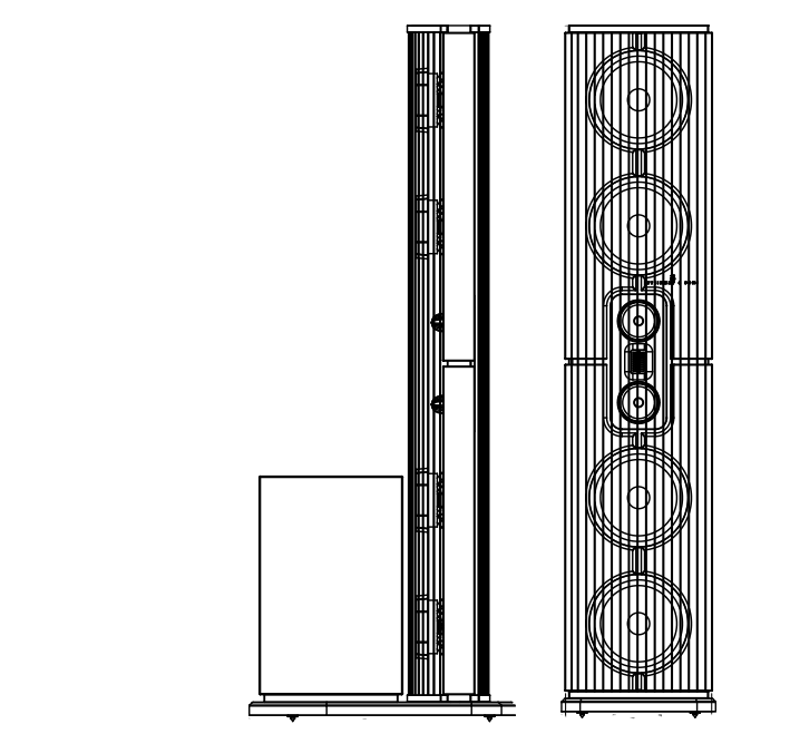 Technical drawing of Model D