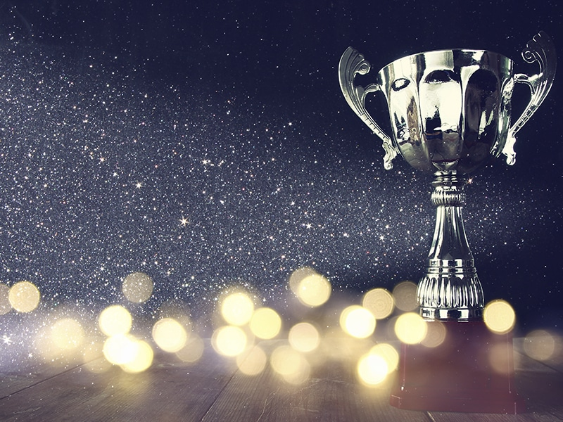Background picture with stars and award 2