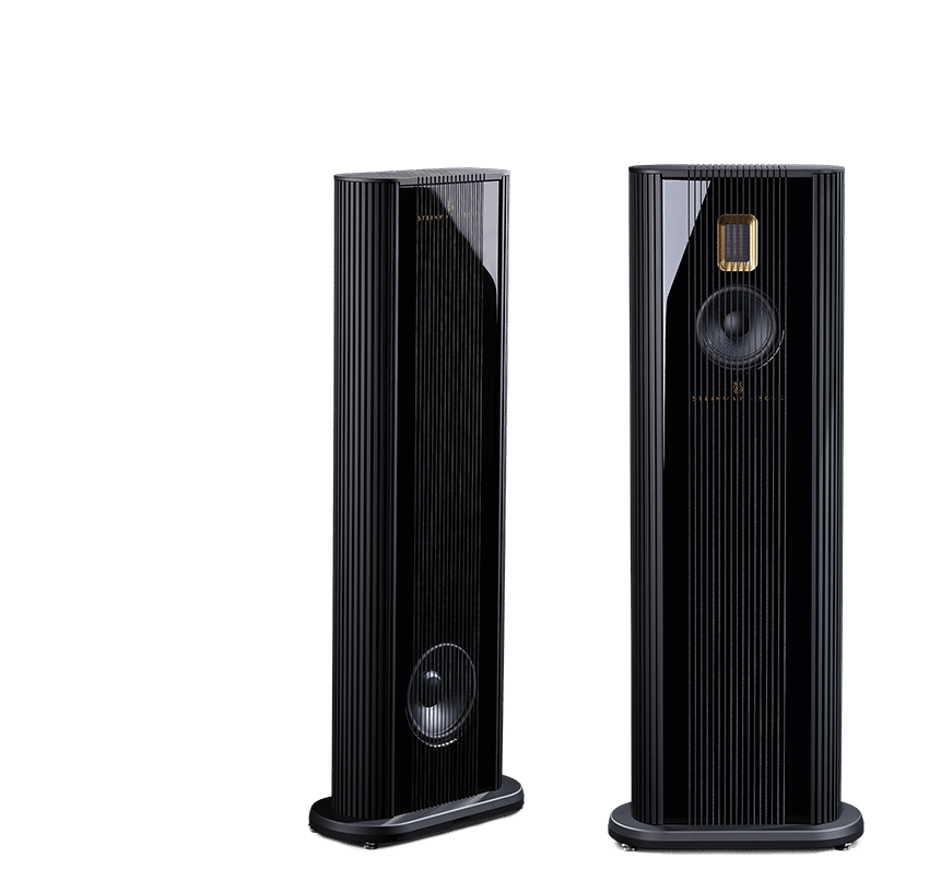 Model O speakers front and back