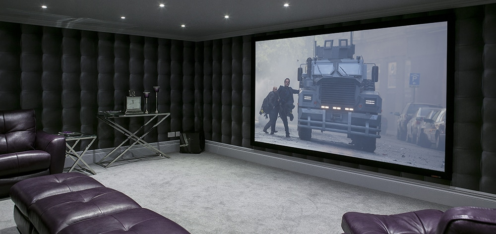 Home cinema in London with Model S 4