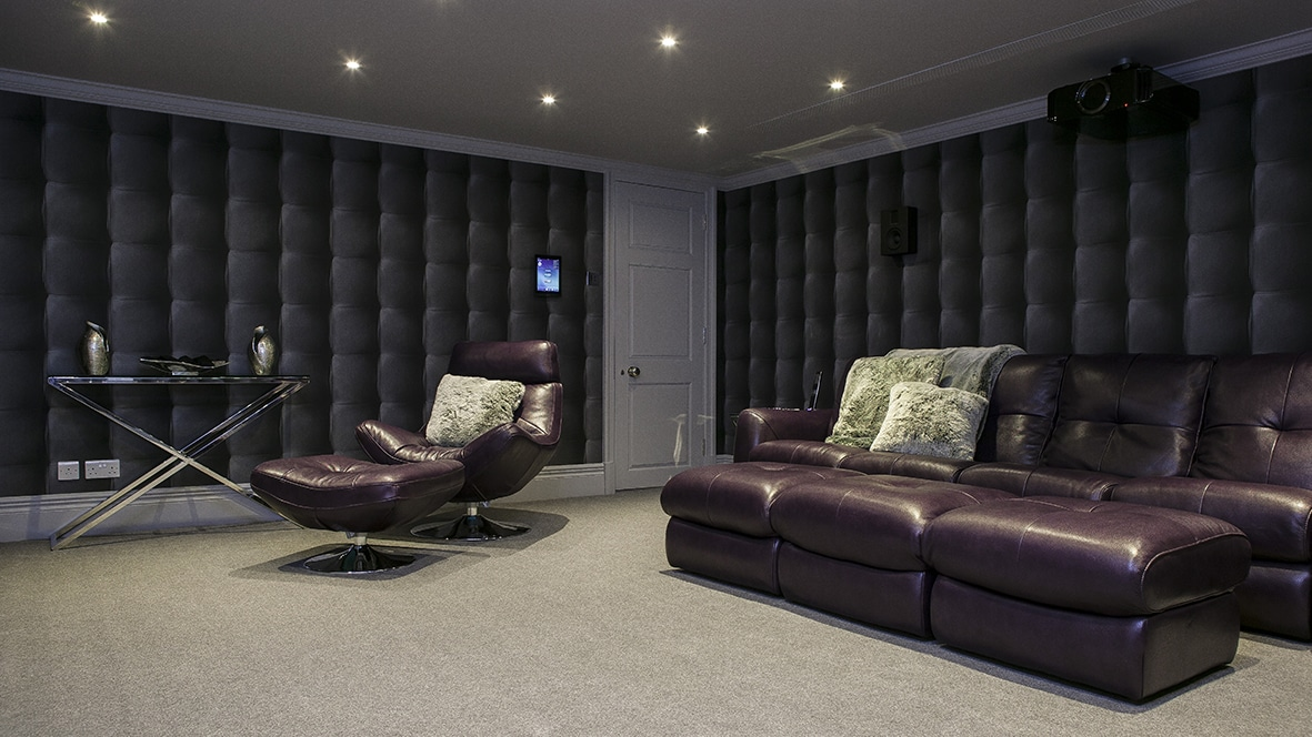 Home cinema in London with Model S