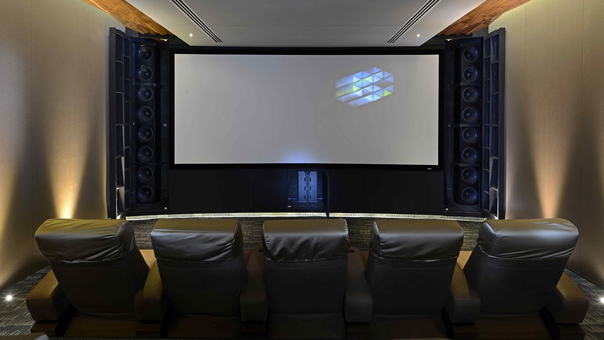 Home theater with Model LS and IW in Mumbai City