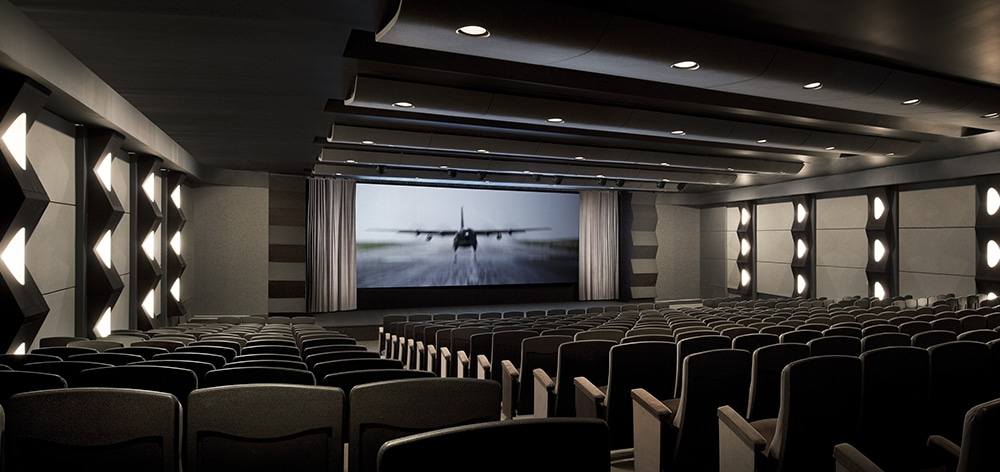 Silverscreen theater in California inside