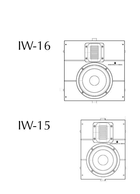 Model IW-16 and -15 technical drawing