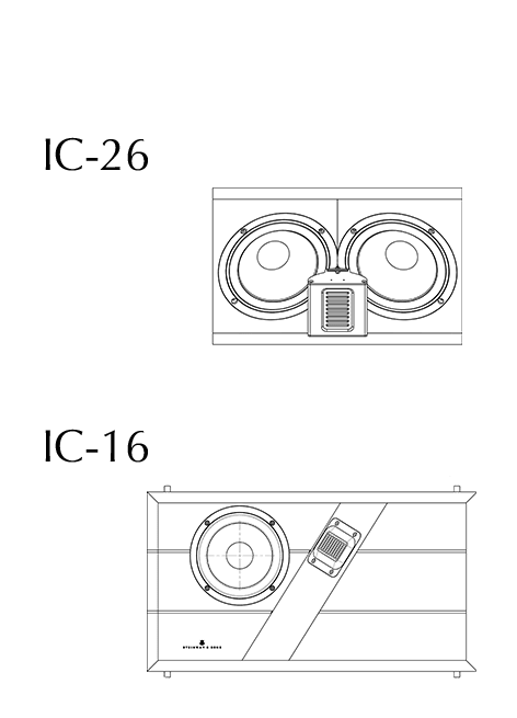 Model IW-26 and -16 technical drawing