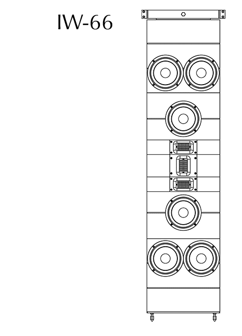 Model IW-66 technical drawing