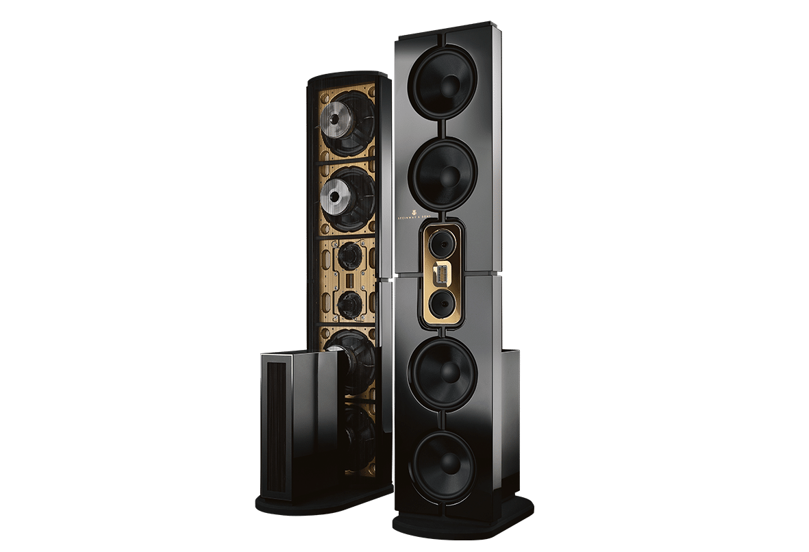 Model D speakers front and back