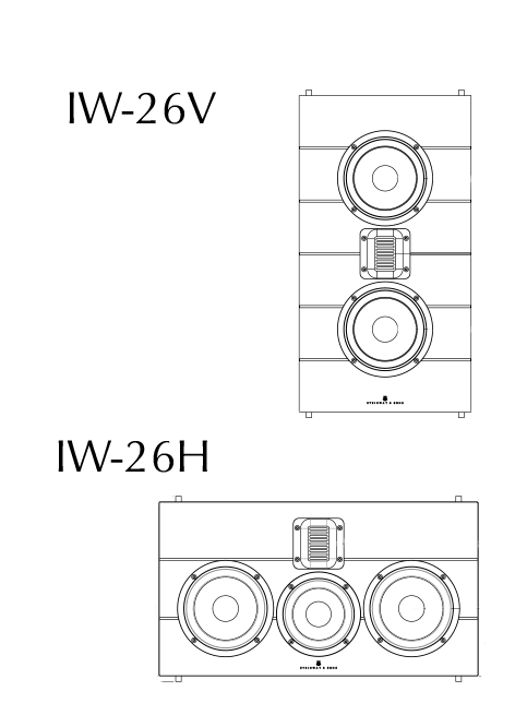 Model IW-26V and IW26H