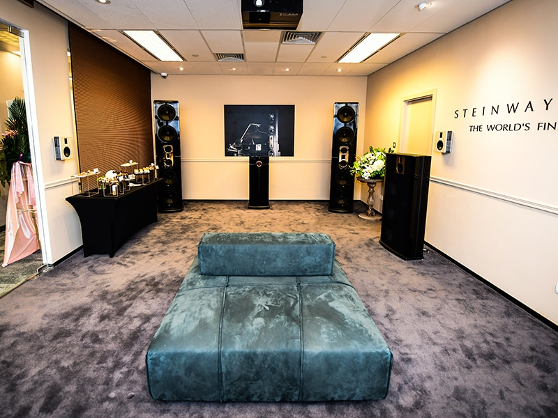 Steinway Lyngdorf showroom at Home Integration