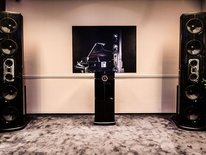 Model D speaker system at Home Integration showroom