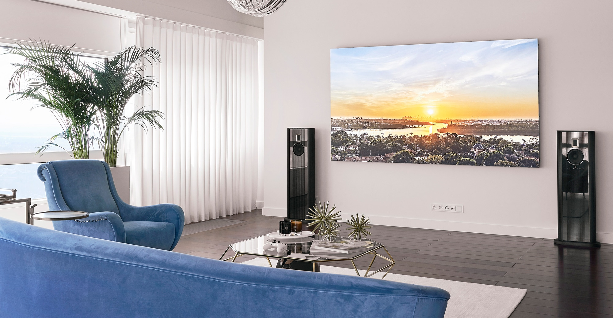 Model O in living room